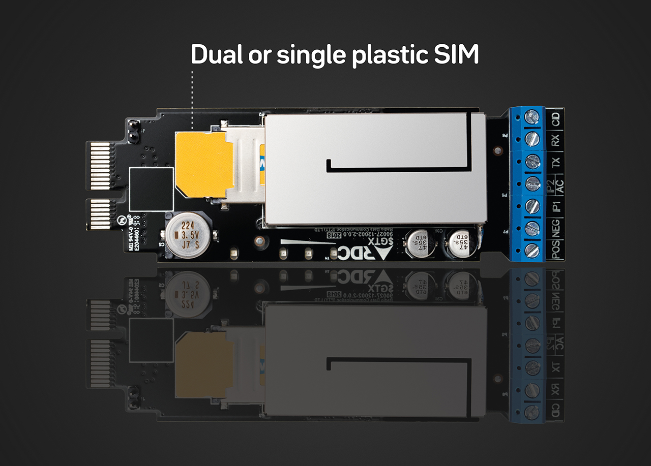 Dual or single plastic sim