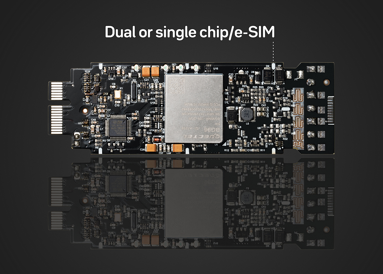 Dual or single chip/e-sim